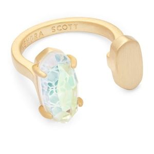 NWOT Kendra Scott Pryde Gold Open Ring S/M